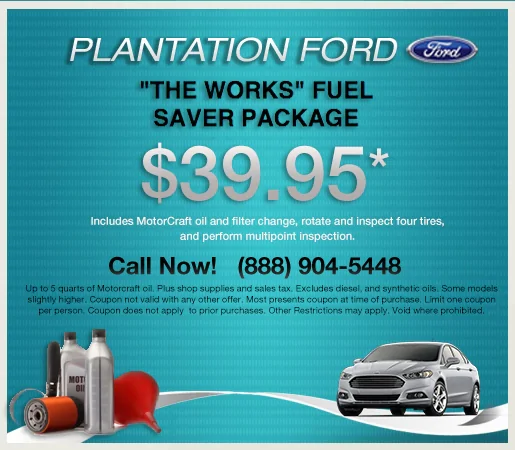 Ford The Works >> The Works Fuel Saver Package Plantation Ford Specials